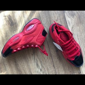 Reebok Red Iverson Question Size 12